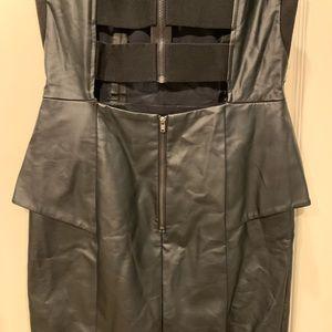 BCBGeneration black leather dress